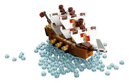 Nave in bottiglia lego (4)