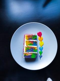 White chocolate rainbow swirled skittles cake, White chocolate rainbow swirled skittles cake, just nicole
