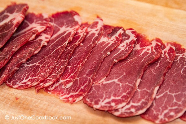 Thinly Sliced Meat | Easy Japanese Recipes at JustOneCookbook.com
