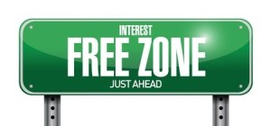 Interest Free Zone Ahead