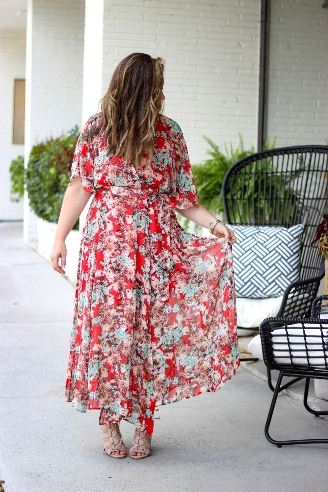 Floral Wrap Dress | Just Peachy Blog