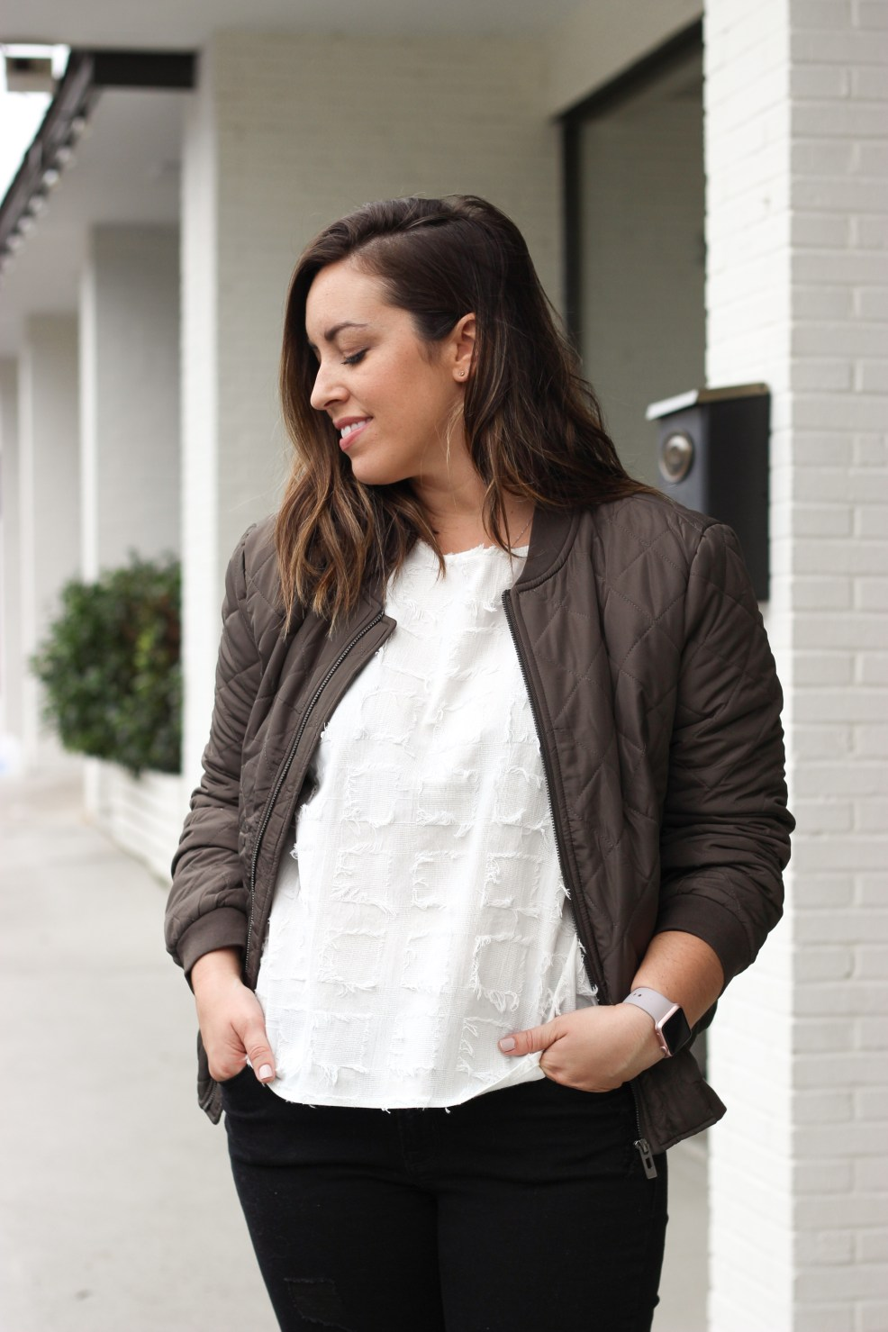 Quilted Bomber Jacket | Just Peachy Blog