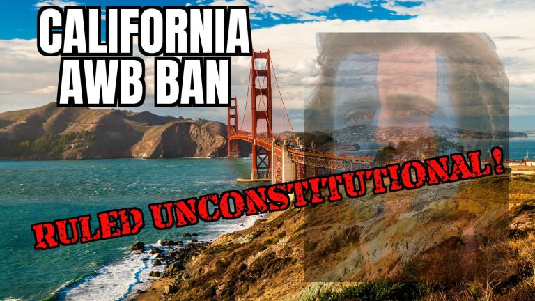 California AWB Ruled Unconstitutional