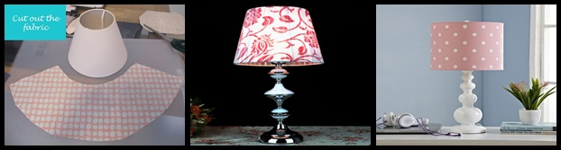 covering lamp with fabric-tile