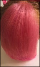 pink hair top view