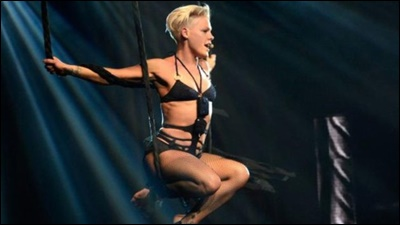 PINK ON TRAPEZE