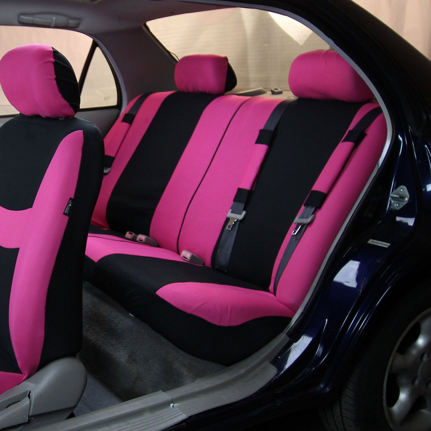 Pink Black Light Breezy Cloth Seat Cover Bundle Just Pink About It