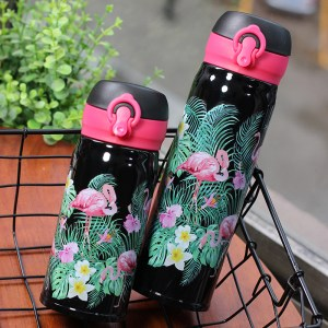 Pink Flamingo Vacuum Insulated Travel Sports Thermos