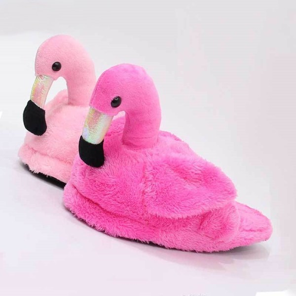 Women's Cute Flamingo Plush Slippers