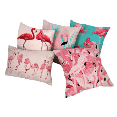 Tropical Pink Flamingo Decorative Cushion Covers