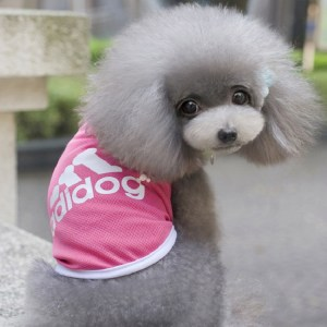 Cute Pink Dog Pet Adidog Shirt Vest