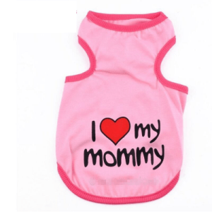 Cute Pink Dog Pet I Love My Mommy Shirt