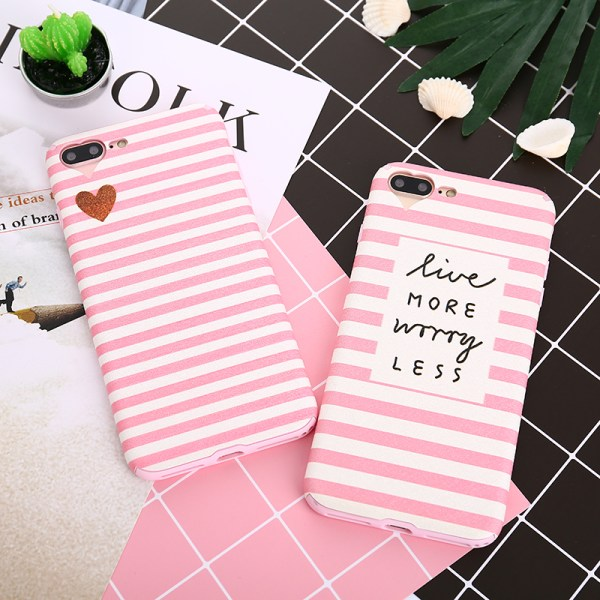 Pink Stripe Fashion Quote iPhone Case