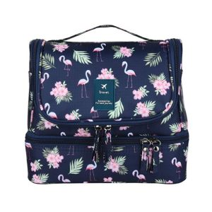 Pink Flamingo Large Capacity Hanging Toiletry Bag