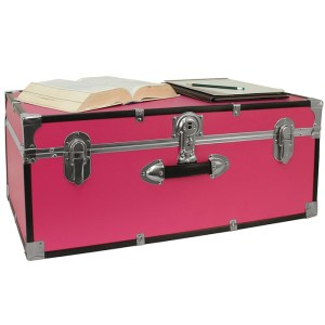 Pink Trunk College Dorm Storage Footlocker