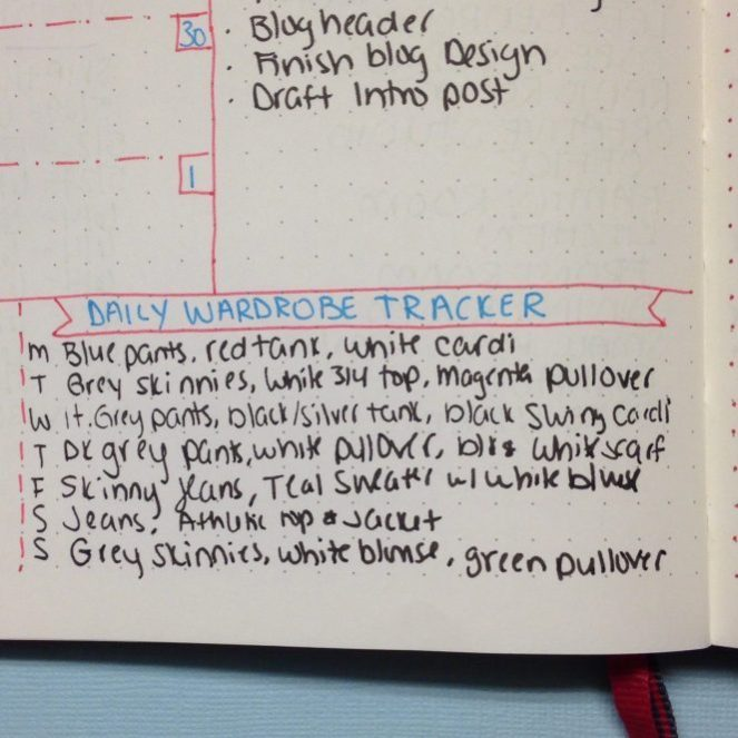 Tracking Your Wardrobe in Your Bullet Journal