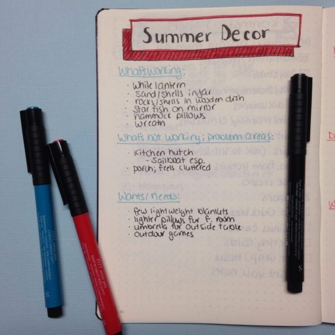 Using a Bullet Journal to Aid in Your Seasonal Decorating