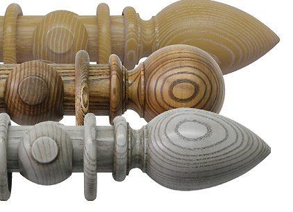 Jones Oakham 50mm Handcrafted Wooden Curtain Poles