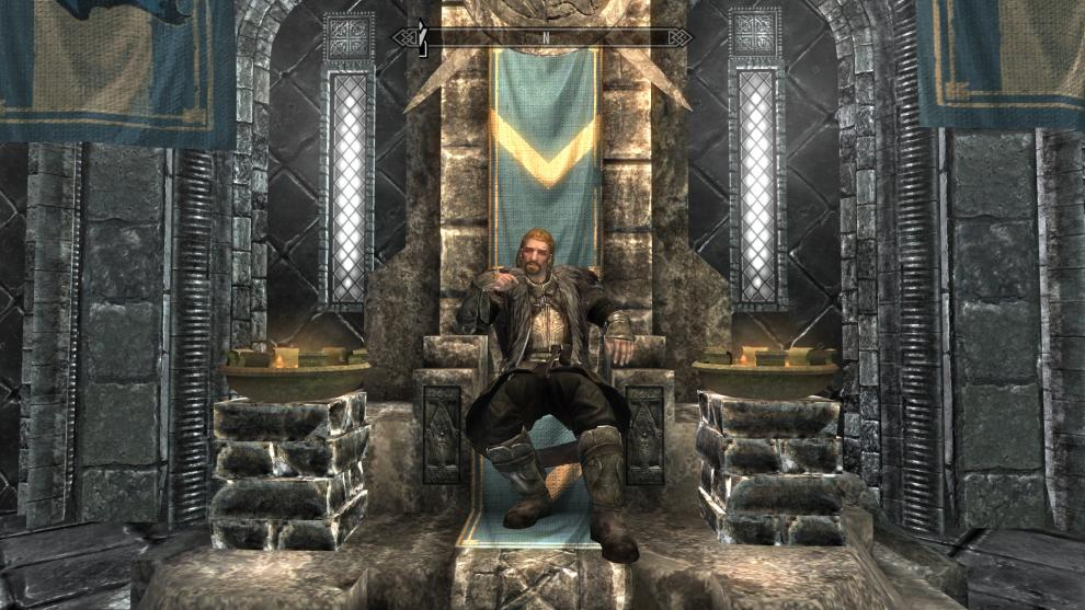 Image result for skyrim ulfric stormcloak on throne