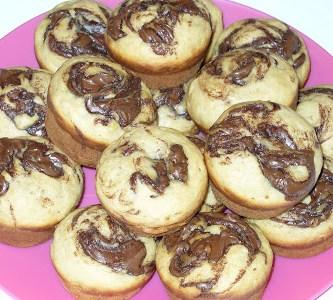 Banana Nutella-Swirl Muffins