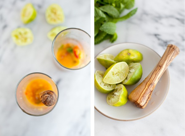 Peach Ginger Mojito Mocktail