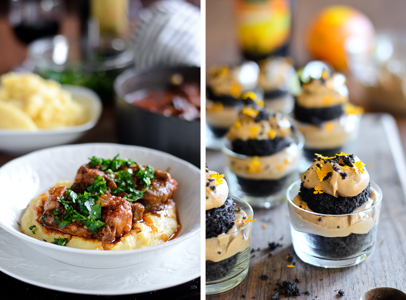 Osso Bucco/Dark Chocolate Olive Oil Trifle