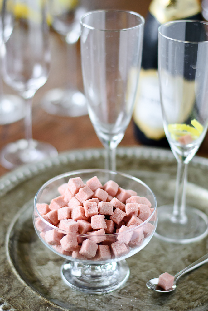 Champagne Cocktails & Angostura Sugar Cubes