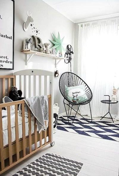 Quartos infantis preto e branco - Just Real Moms