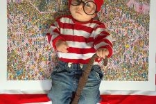 Menino fantasiado de Wally