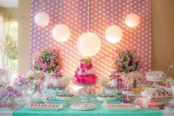 Ideias criativas para painel de festa de aniversário - Tecido