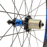 Lark Light straight-pull rear hub with 2:1 lacing