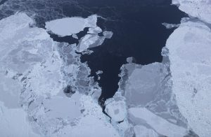 Sea Ice as seen from above off the northwest coast of Greenland.