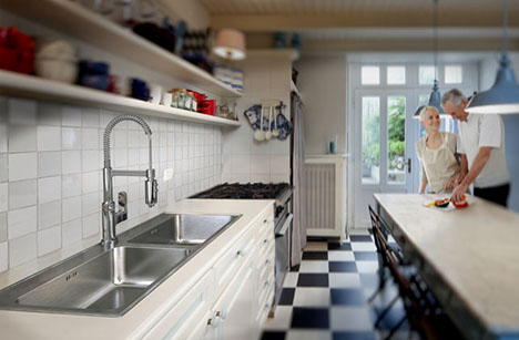 drop in double compartment sink just