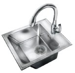stainless steel washboard sink by just