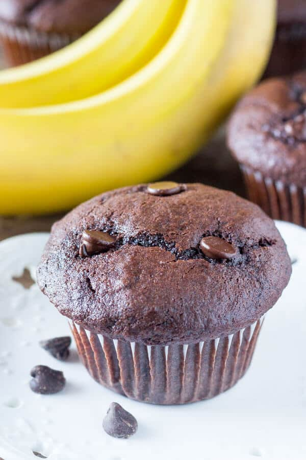 Double Chocolate Banana Muffins Just So Tasty