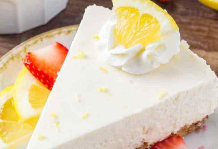 No Bake Lemon Cheesecake Just So Tasty