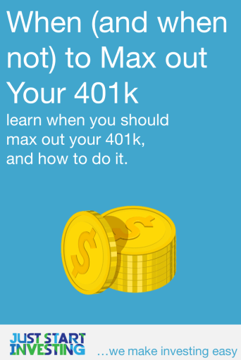 When to Max Out 401k - Pinterest