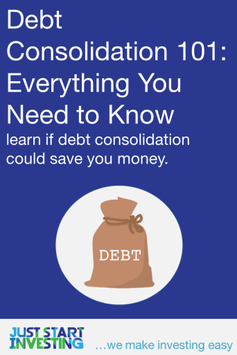 Debt Consolidation 101 - Pinterest