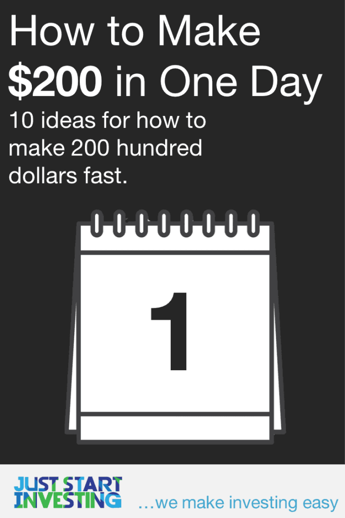 How to Make 200 Hundred Dollars in One Day - Pinterest