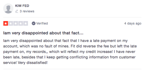 Fit Mastercard Reviews - Negative 1