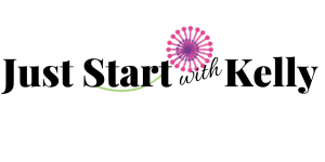 Just Start with Kelly logo with dandelion