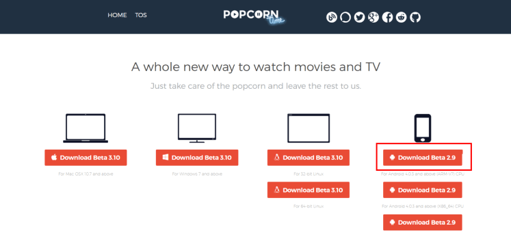 Popcorn Time on Android