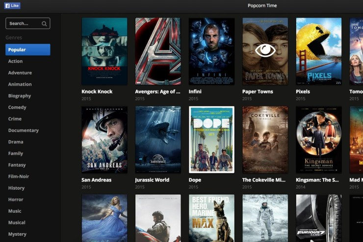Popcorn Time on Chromebook