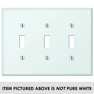 amerelle wallplates glass tile acrylic triple toggle wallplate in white glass