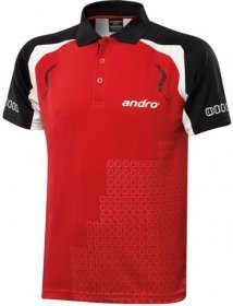 andro Polo MINGO Red/Black 100% Polyester IndoorDRY