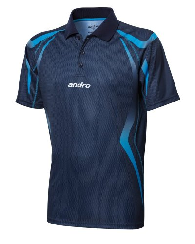 andro Polo Netis Dark Blue/Blue 100% Polyester IndoorDRY