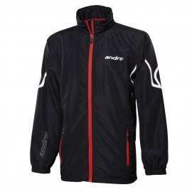 andro Tracksuit Jacket Orontes Black/Red
