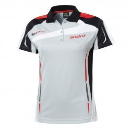 andro Polo Agus Women Grey/Red 100% Polyester IndoorDRY