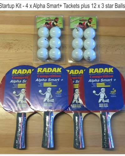 Radak Starters Package No.1, 4 x Rackets and 12 x Balls