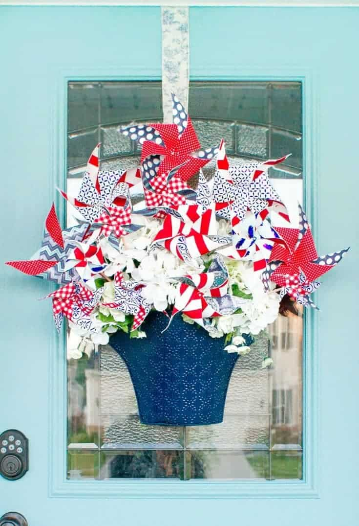 Easy Red White Amp Blue DIY Patriotic Decor For The 4th Of July